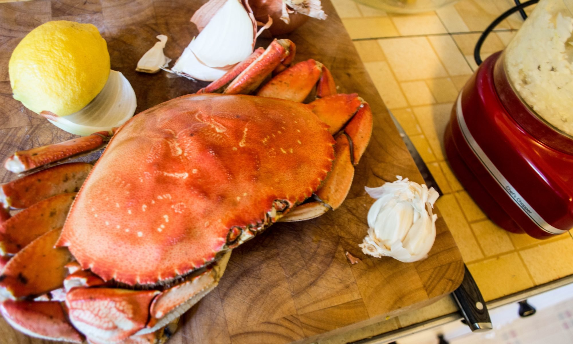 Angry Crab presenting their Dungeness crab